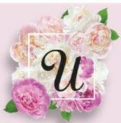 """Flowers with the letter """"U""""."""