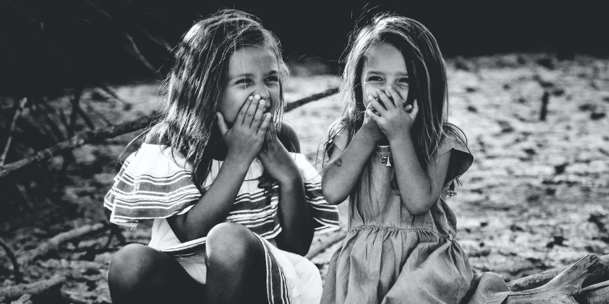 children laughing together.