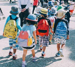 children walking to school.